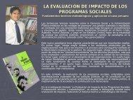 LA EVALUACIÓN DE IMPACTO DE LOS PROGRAMAS SOCIALES ...