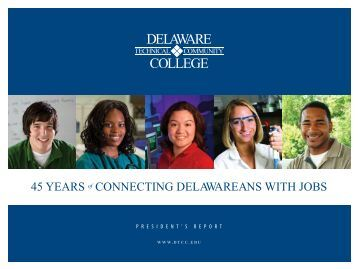View Presidents Report as PDF - Delaware Technical Community ...