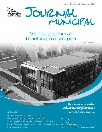 Montmagny aura sa bibliothèque municipale - Ville de Montmagny