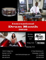 Drum Month - The Music Shoppe