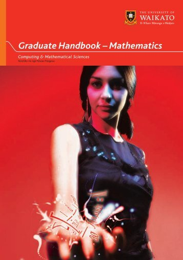 SCMS Graduate Handbook 2008 Inside.indd - University of Waikato