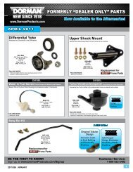 """FORMERLY """"DEALER ONLY"""" PARTS - Dorman Products"""