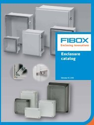 Enclosure catalog - Fibox
