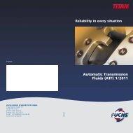 Automatic Transmission Fluids (ATF) 1 / 2011 - Fuchs
