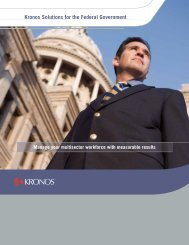 Kronos Solutions for the Federal Government - Federal News Radio