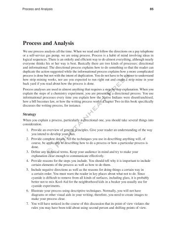 Process and Analysis - Fountainhead Press