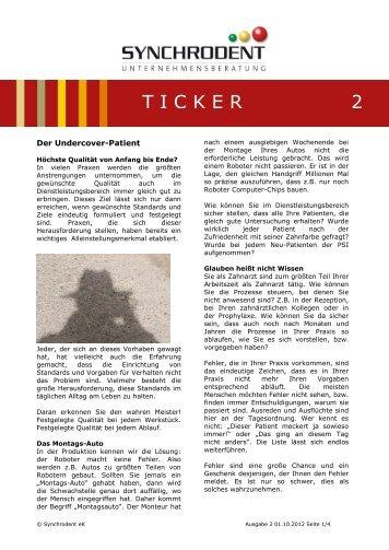 TICKER 2 - Synchrodent
