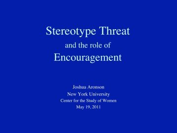 Stereotype Threat - National Center for Women & Information ...
