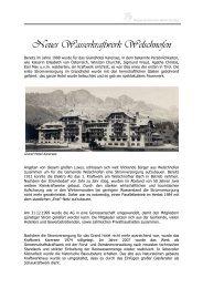 Infos Wasserkraftwerk Welschnofen - WELSCHNOFEN - KARERSEE