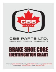 BRAKE SHOE CORE - CBS Parts Ltd.