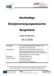 Studie Nachhaltige Energieversorgungsszenarien für das ... - ESPAN