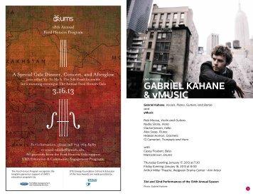 GAbRiEl KAHANE & yMusic - University Musical Society