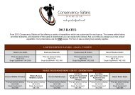 Rates for 2013 Expeditions - Conservancy Safaris Namibia