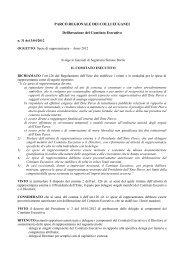 Spese di rappresentanza – Anno 2012 - Parco Regionale dei Colli ...