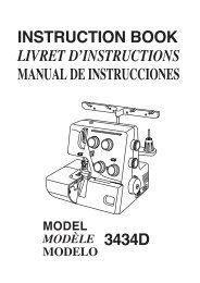 instruction book livret d'instructions manual de ... - Janome