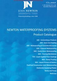Newton Waterproofing Systems Brochure - Barbour Product Search