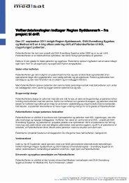 Velfærdsteknologien indtager Region Syddanmark ... - Medisat