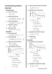 Formelsammlung PV2