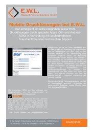 Mobile Drucklösungen bei E.W.L.