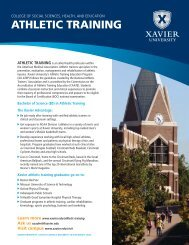 ATHLETIC TRAINING - Xavier University