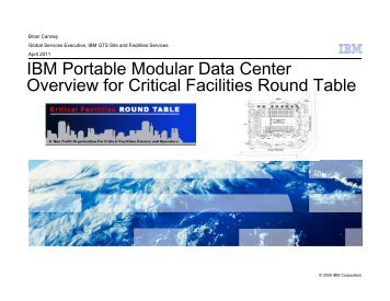 IBM Portable Modular Data Center Overview and Case Studies