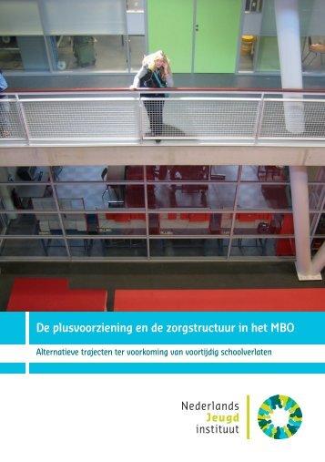 De plusvoorziening en de zorgstructuur in het MBO - Landelijk ...