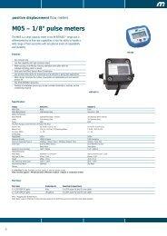 """M05 – 1/8"""" pulse meters"""