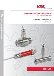 serie Vtr solutions for Fluid technology turbinen-durcHFluss-sensor ...