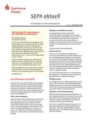 SEPA-Newsletter Nr. 2 aus Dezember 2012