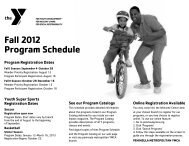 Fall 2012 Program Schedule - Peninsula Metropolitan YMCA