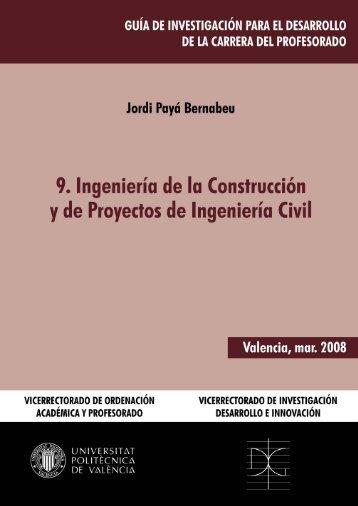 Ingeniería de la Construccion y de Proyectos de Ingeniería Civil