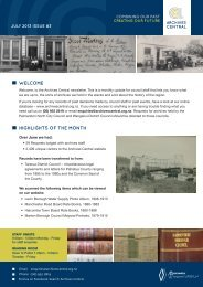 Archives Central - July Newsletter #3 - Tararua District Council