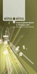 Ausgezeichnete Bauten in Thüringen 2011 - BDA Thüringen