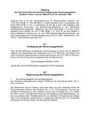 Satzung über die förmliche Festlegung des Sanierungsgebietes