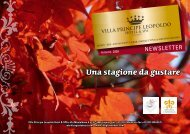 Una stagione da gustare - Villa Principe Leopoldo Hotel & SPA