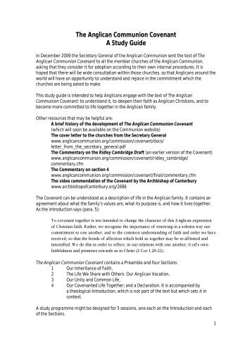 The Anglican Communion Covenant A Study Guide