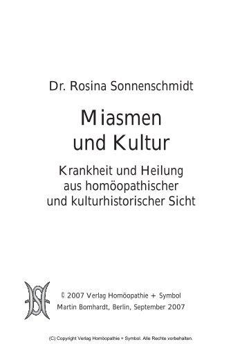 Miasmen und Kultur - Verlag Homöopathie + Symbol