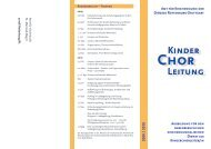 2009 / 2010 Kinder Leitung - Amt für Kirchenmusik