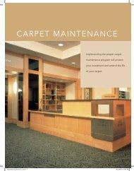 Carpet Maintenance Brochure - Mannington