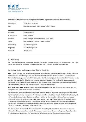 Protokoll GV 14-06-2012 - GAZ-Hausärzte