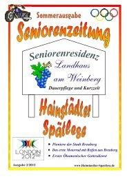Hainstädter Spätlese - Seniorenresidenz Landhaus am Weinberg