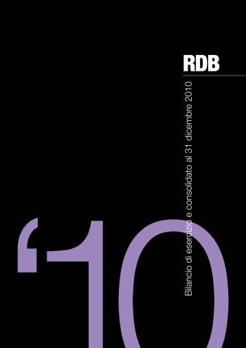 bilancio 2010 - Rdb