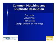 Common Matching and Duplicate Resolution - University System of ...