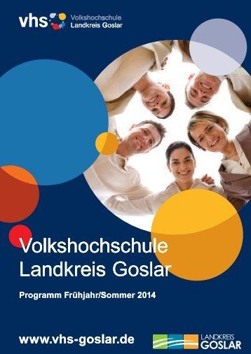 Programmheft als PDF - Volkshochschule Landkreis Goslar