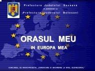 Orasul meu, in Europa mea