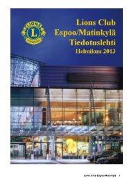 Tiedotuslehti 2013 - Suomen Lions-liitto ry