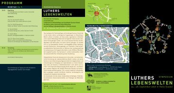 PROGRAMM LUTHERS LEBENSWELTEN - Fundsache Luther
