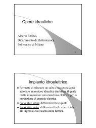 Opere idrauliche Impianto idroelettrico - Valentiniweb.com