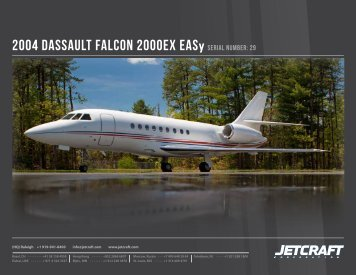 2004 Dassault falcon 2000EX Easy sErial numbEr: 29 - Business Air ...
