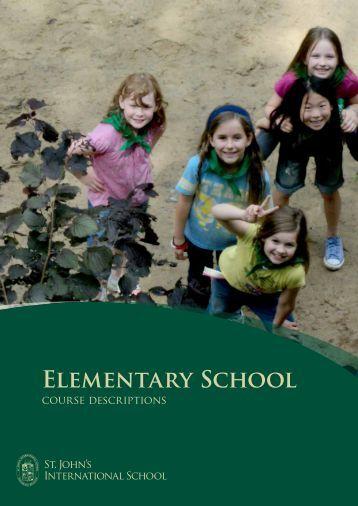 Elementary School course description - St. John's International School